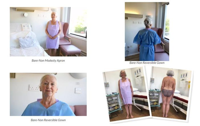 Hospital Gowns, Bare Modest Apron and Gown Twin Set